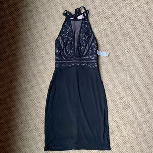 Tight Fitted Black Formal Dress